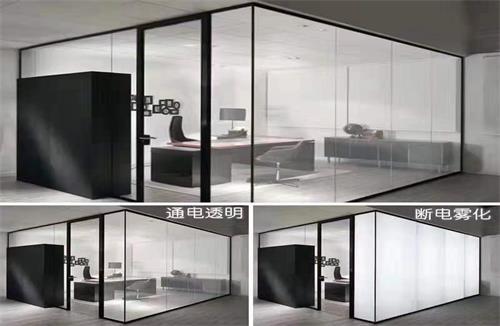 天门双层办公多格型玻璃隔断
