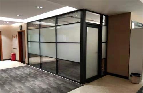 天门单层办公玻璃隔断